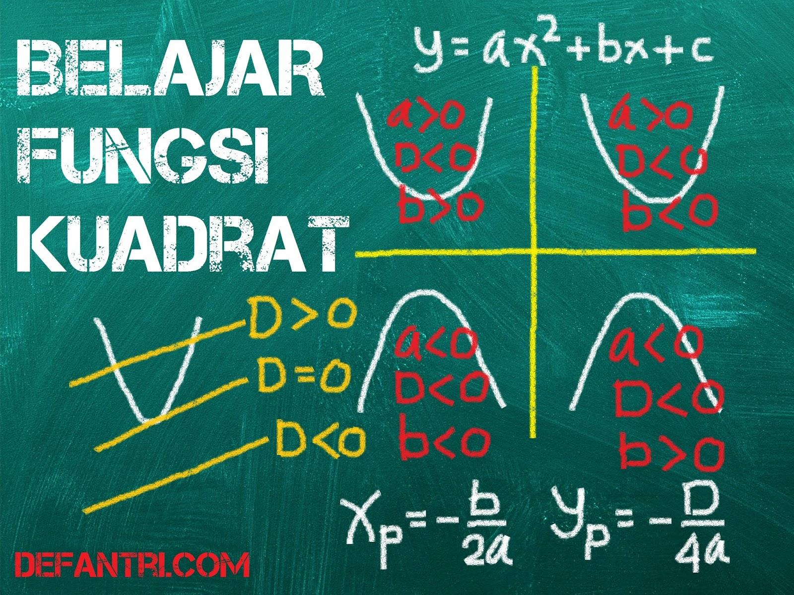 Matematika Dasar Fungsi Kuadrat (*Soal Dari Berbagai Sumber)