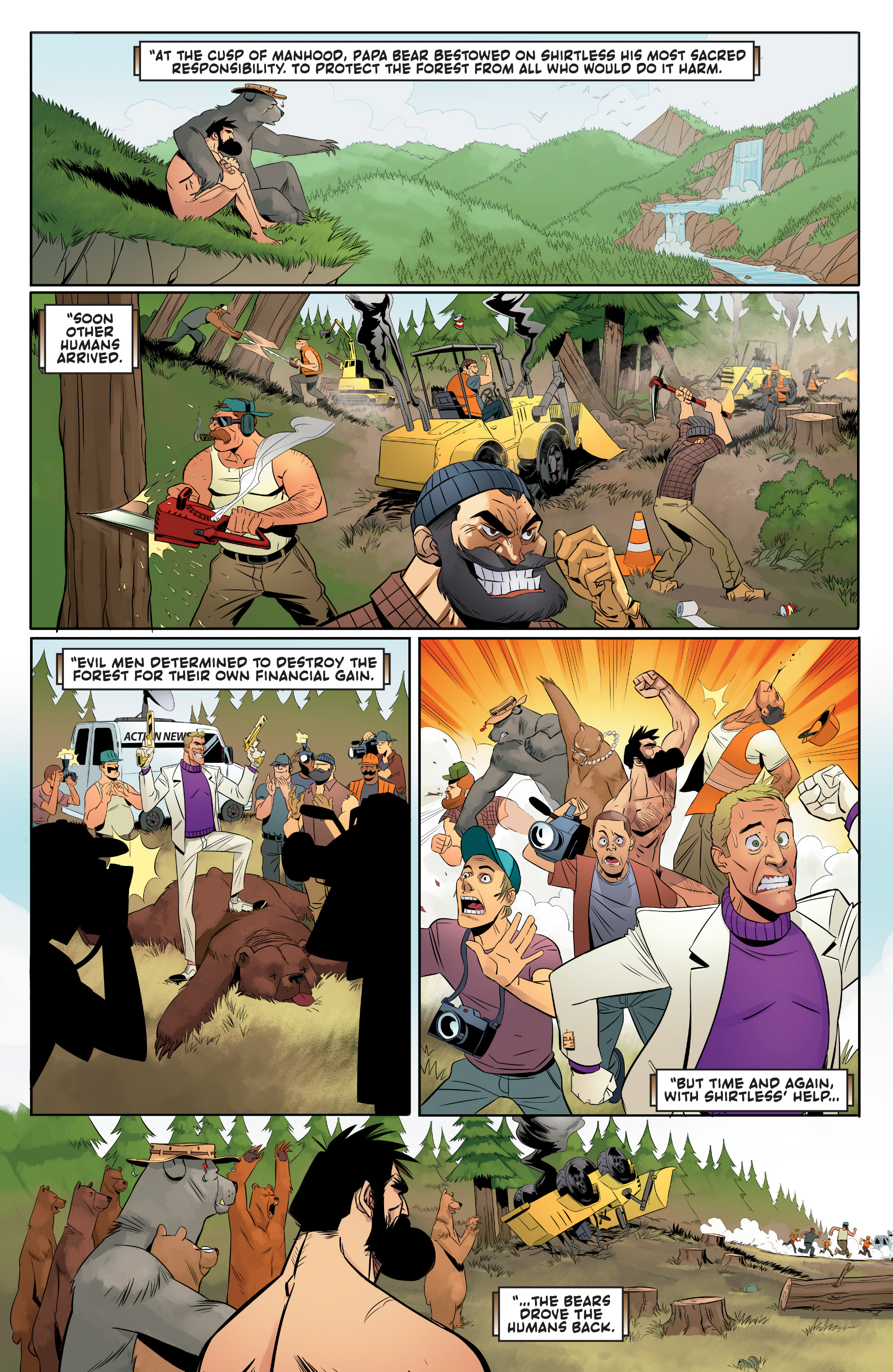 Read online Shirtless Bear-Fighter! comic -  Issue #1 - 20