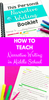 Easy step-by-step guide for teaching narrative writing in your middle school classroom!