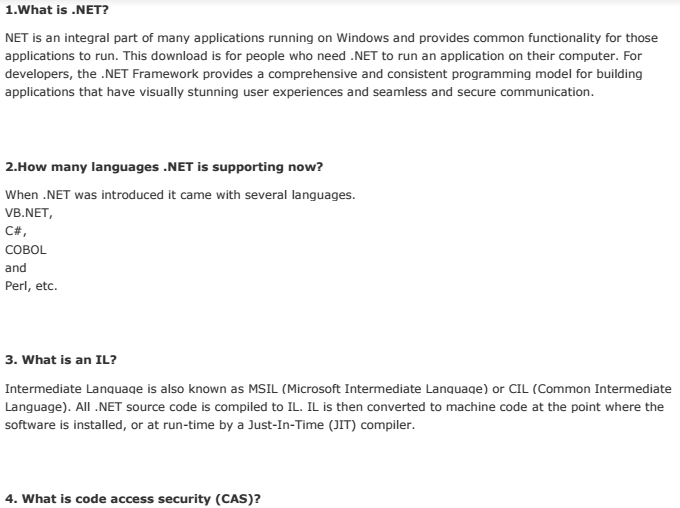 .net Interview Questions And Answers Pdf