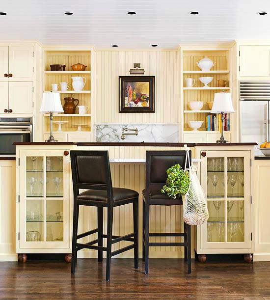 White Kitchen Cabinets Yellow Granite: Traditional Kitchen Design Ideas 2014 With Yellow Color