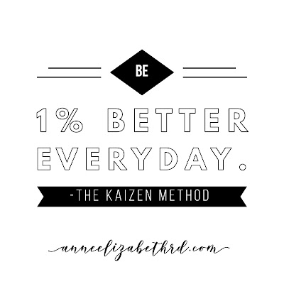 #WeeklyWisdom:  Be 1% better everyday. The Kaizen Method.