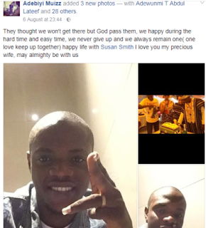 Photos: Nigerian Man Celebrates His Much Older White Wife On Facebook