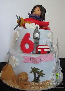 bolo aniversário à volta do mundo