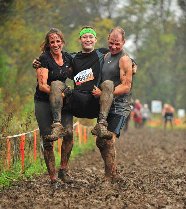 Don taking a break during the Tough Mudder Partner Carry