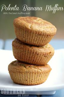Cornmeal Polenta Banana Muffins Recipe Gluten Free
