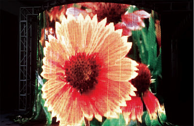 flexible led curtain display outdoor
