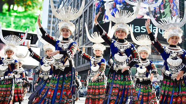 China's Miao ethnic culture hits Times Square