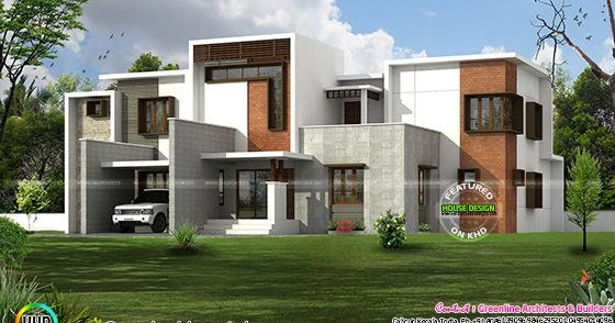 Box Type Home In Beautiful Style Kerala Home Design And