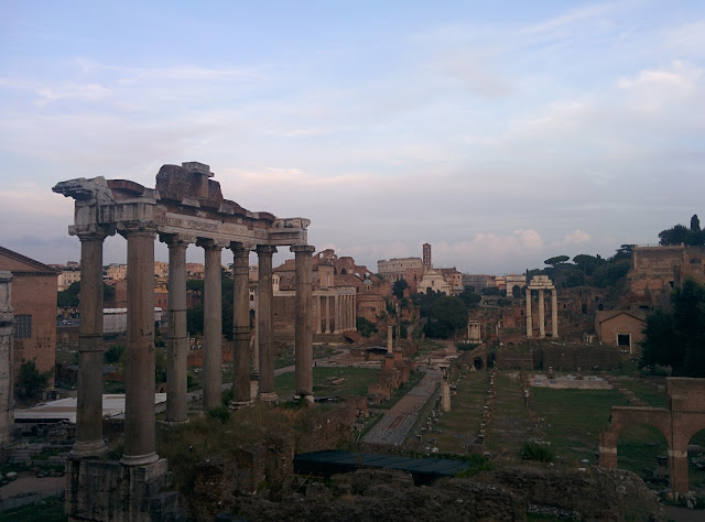 Piazza Del Campigdolio - a view of the Roman Forum