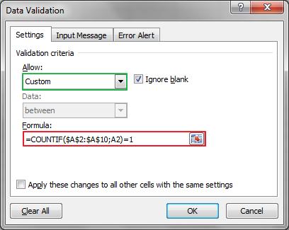 Mencegah Data ganda di Excel