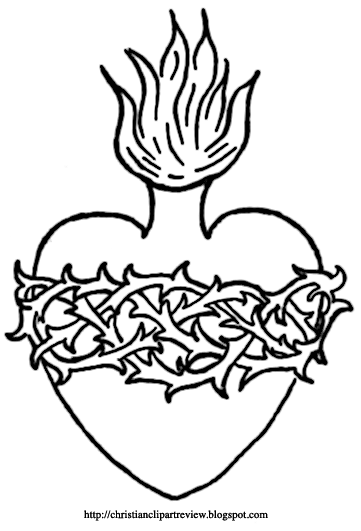 The Sacred Heart Symbols Christian Clip Art Review