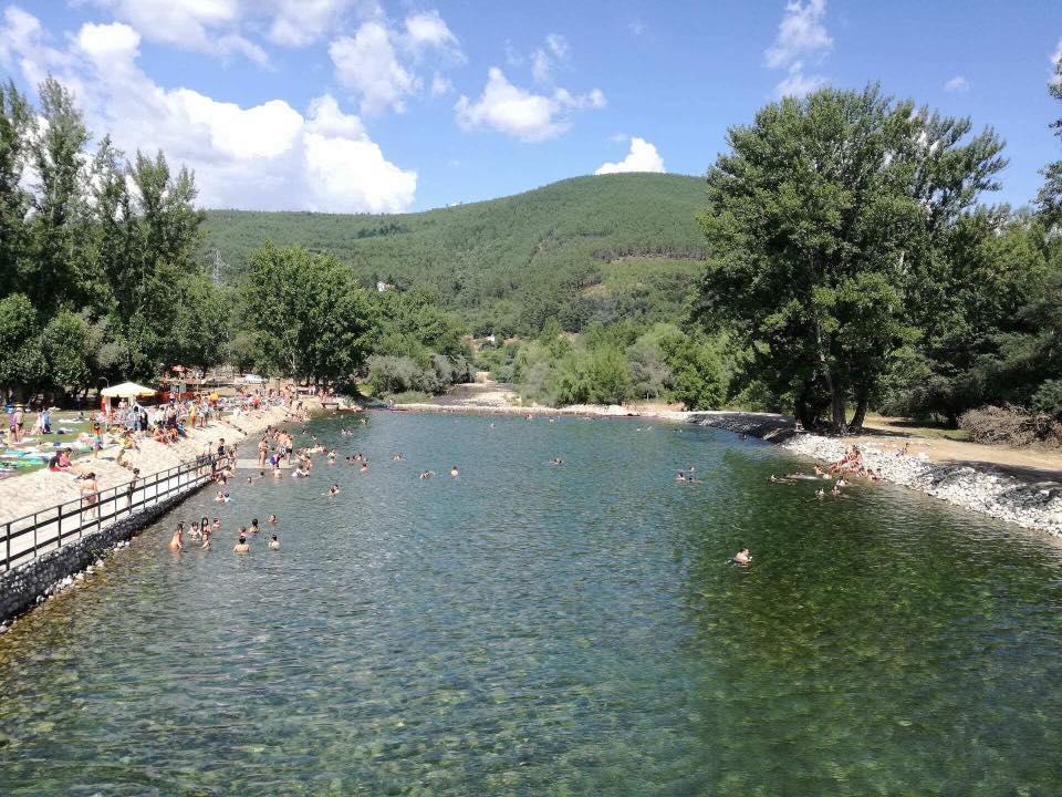 águas límpidas e frias do Zêzere