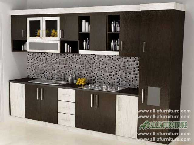 kitchen set minimalis single line foxy
