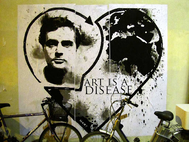 Amedeo Modigliani, art is a disease poster by Mart, Effetto Venezia, Livorno