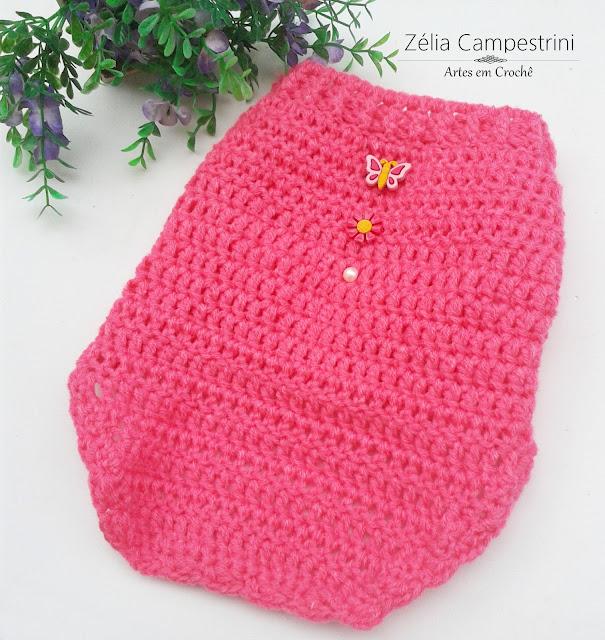 Roupinha de cachorro em lã rosa