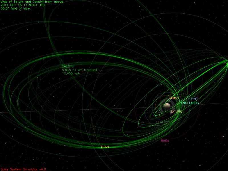 Exo Cruiser: Saturn Fly-through