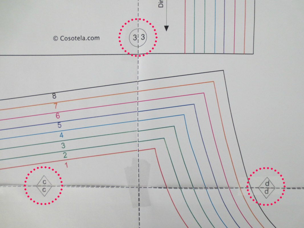 Pantalón con volantes. Imprimir patrón y cortar la tela. | Cosotela