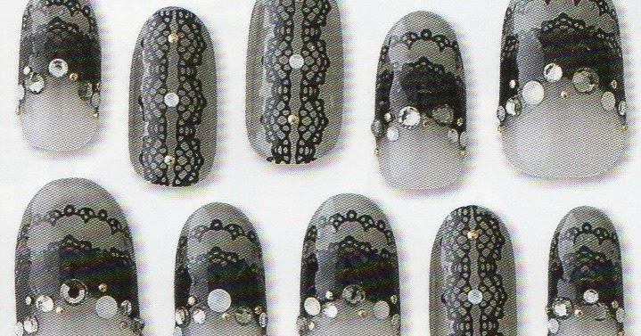 october nail inspiration lace and freehand nail art
