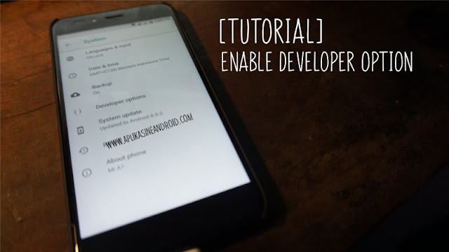 Tutorial Cara Enable Developer Option di Android