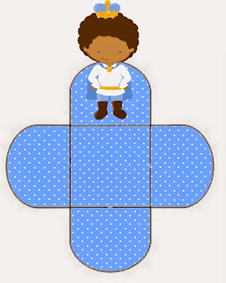 Afro Baby Prince Free Printable Open Boxes.