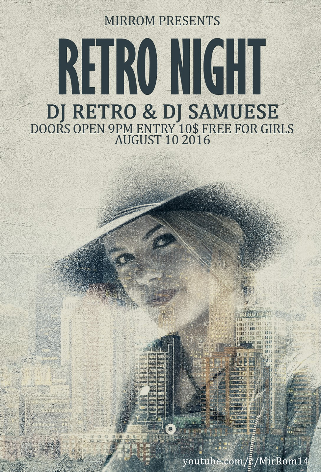 Desgin a Retro Style Party Flyer In Photoshop