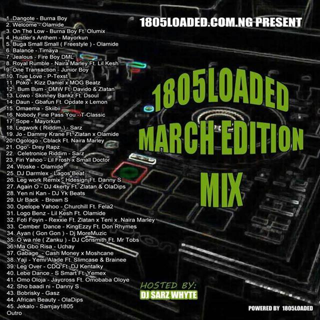 [Mixtape] Dj Sars White – 1805loaded MMTs Vol.7 - www.mp3made.com.ng