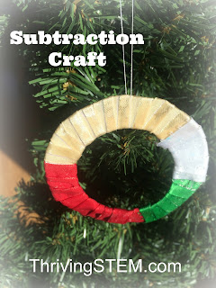 Great kindergarten craft for practicing subtraction! It reinforces algebraic thinking, and would be great at Christmas or any time.