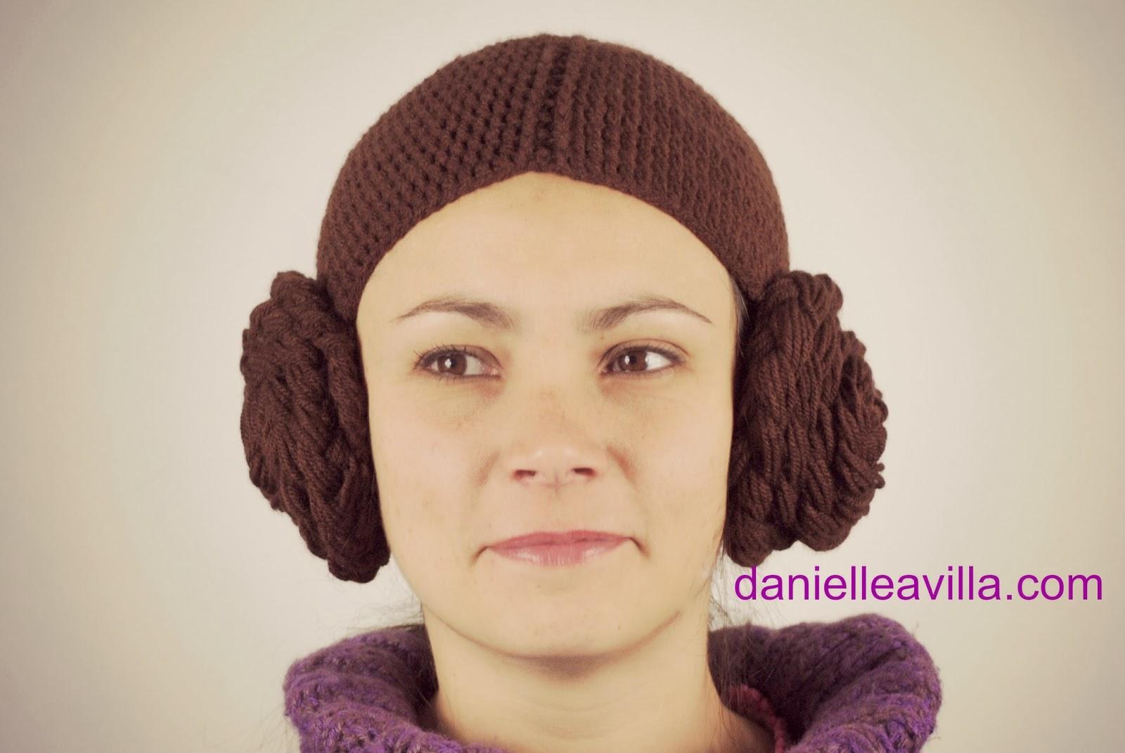 Danielle Avilla Gehäkelte Mütze Prinzessin Leia Star Wars