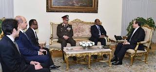 السيسي يستقبل وزير الدفاع التنزاني بحضور وزير الدفاع