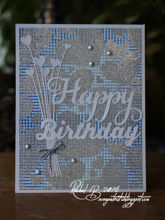 Scrapatout - Handmade card, Birthday, Impression Obsession, Hearts