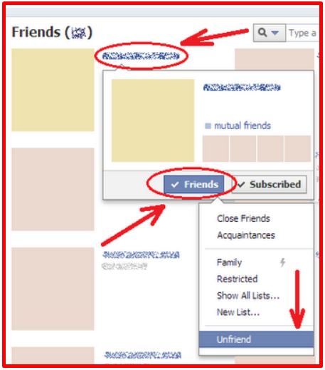 Deleting Friends On Facebook