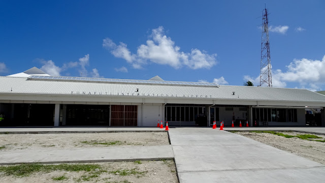 Small renovated airport in funafuti 2018