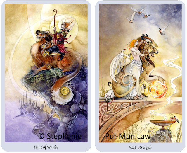 Shadowscapes Tarot Nine of Wands Strength Stephanie Pui-Mun Law Blog Blogger