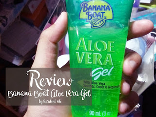 banana boat aloe vera gel indonesian review