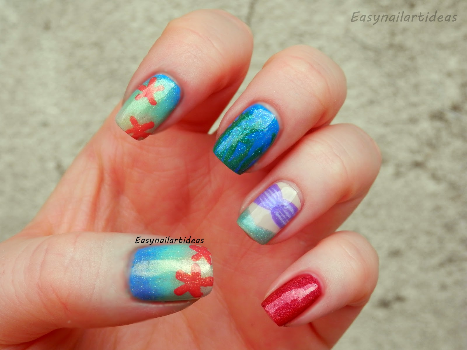 EASY NAIL ART and make-up IDEAS: Little Mermaid inspired ...