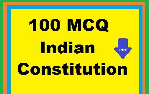 Indian Constitution Pdf In English