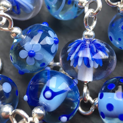 Lampwork glass bead bracelet by Laura Sparling