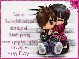 Hug Day Quotes 2016 for Girlfriend