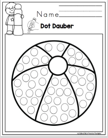 Free Summer Dot Dauber Fun ~ Preschool Printables