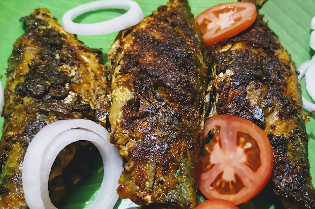 Crisp Goldren fried mackerel bangda fish Tawa fry Recipe