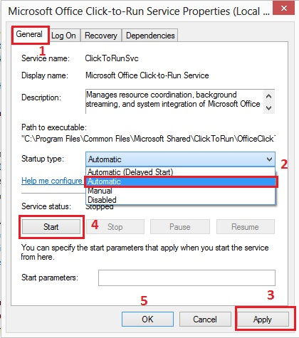 How to stop Microsoft Office Click To Run process
