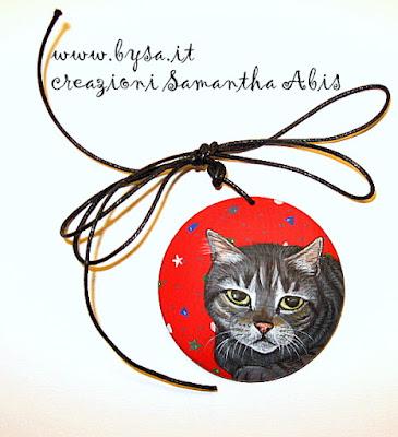 regali originali natale gatti dipinti ciondoli