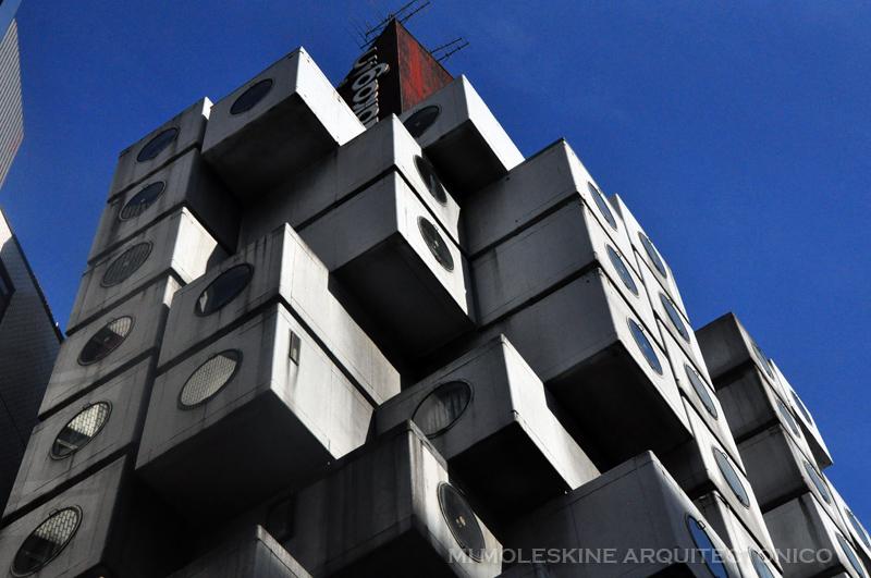 MY ARCHITECTURAL MOLESKINE®: KUROKAWA: NAKAGIN CAPSULE TOWER