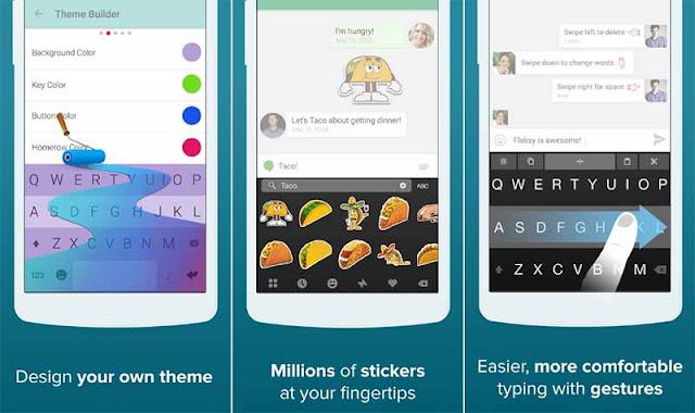 Fleksy + GIF Keyboard - Aplikasi Keyboard Android Warna - Warni