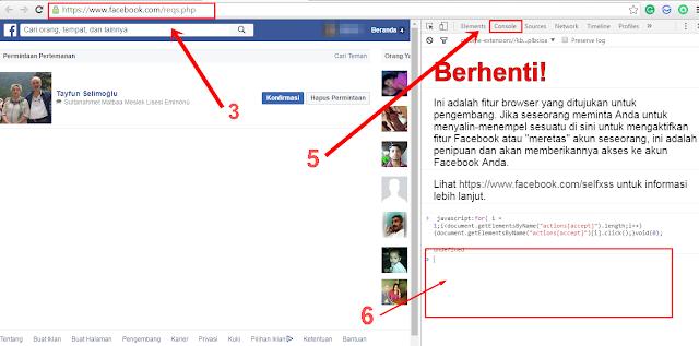 Trik Konfirmasi Pertemanan di Facebook secara Otomatis dan Massal