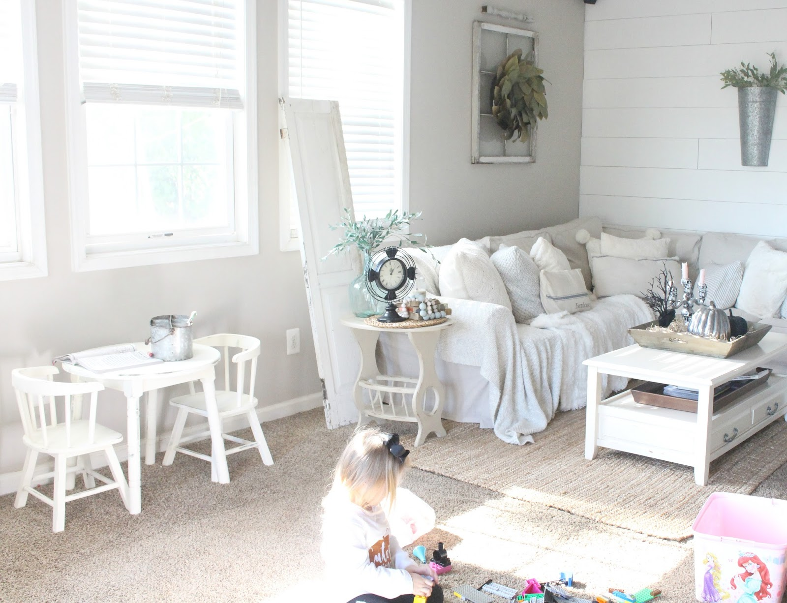 Vintage Kids Table and Chairs Makeover with Chalk Paint - The Glam ...