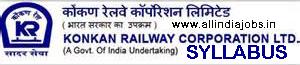 Konkan Railway ALP Syllabus