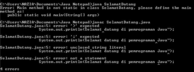 Kenali 3 Macam Error Pada Pemrograman Java