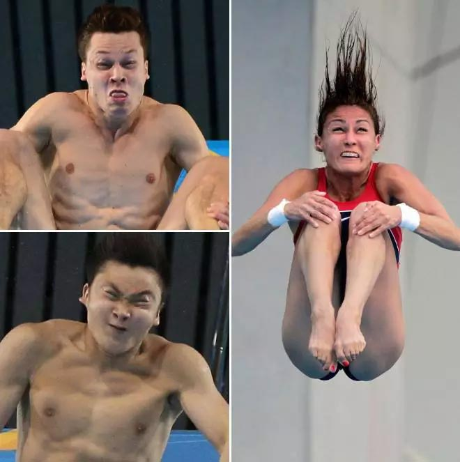 Check out epic faces of divers at Rio 2016 Olympics